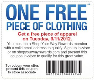 The Sears Outlet: FREE Apparel Item, No Purchase Necessary