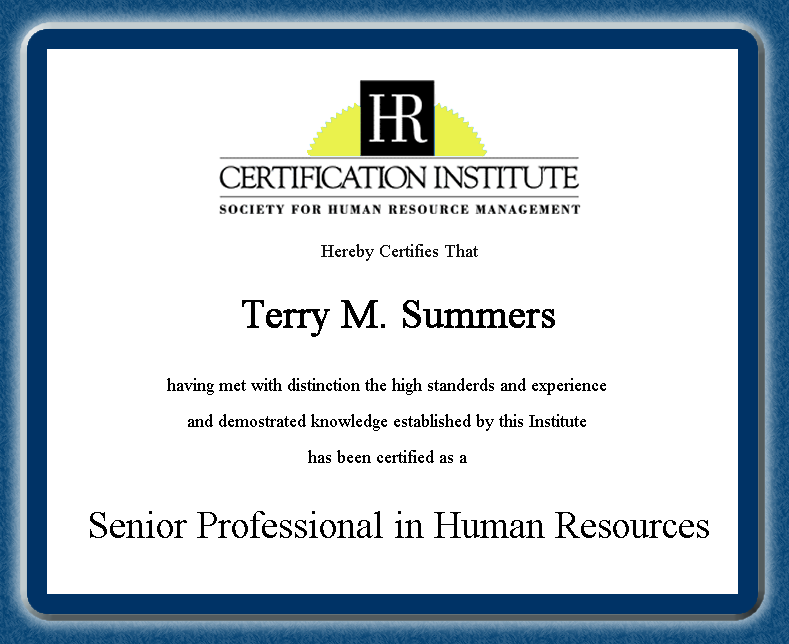 Professional In Human Resources Human Resource Professional