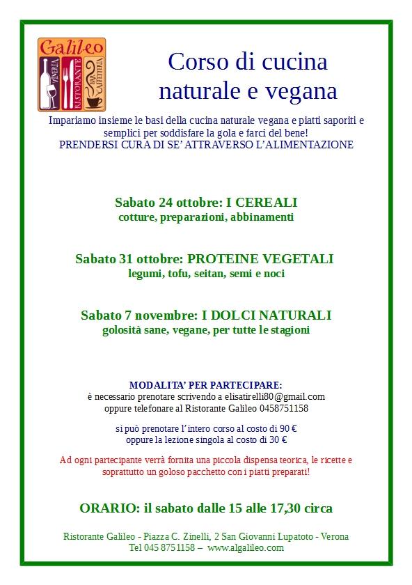 corso di cucina vegana a san giovanni l. a ottobre 2015 | verona ... - Corso Cucina Verona
