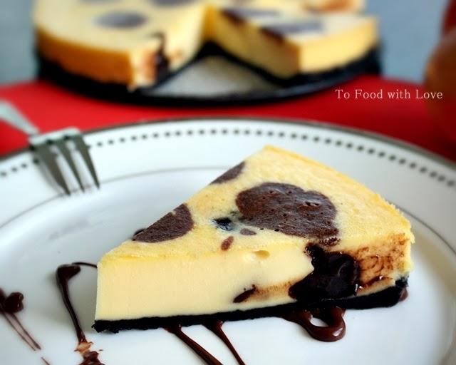hokkaido cheesecake (farm design choco moo cheesecake)