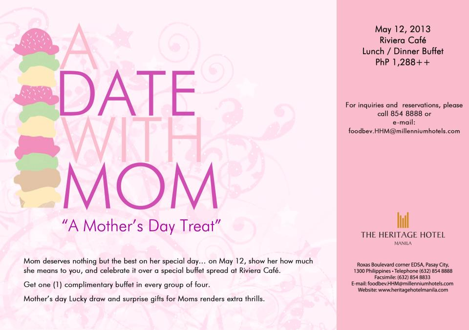 Manila Shopper Mothers Day 2013 Treat Ideas Events amp Promos