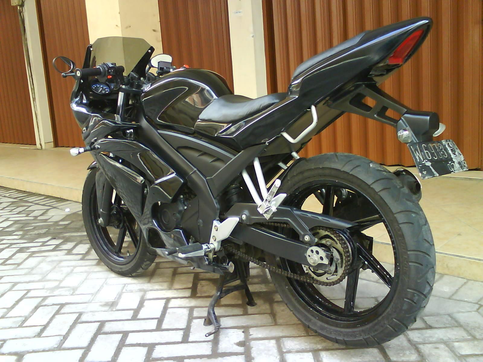 Modifikasi Motor Vixion 2015 Warna Hitam Terkeren Sukaon