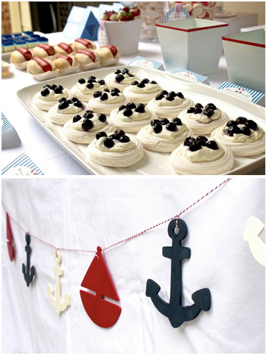 Kinderplays party hopper nautical birthday party for Anchor decoration party
