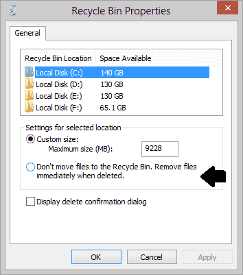 How to Bypass Recycle Bin While Deleting Files
