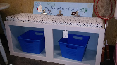 diy kid's bench from kitchen cabinet