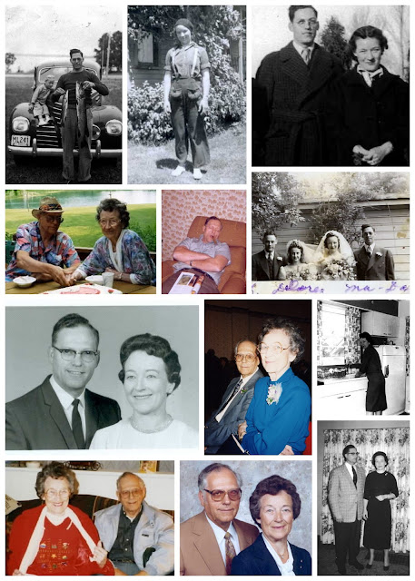 Collage Vintage Photographs Marriage