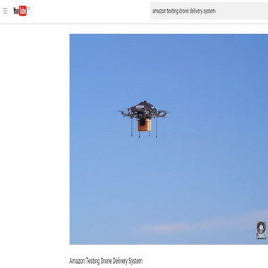 youtube com - amazon testing drone delivery system