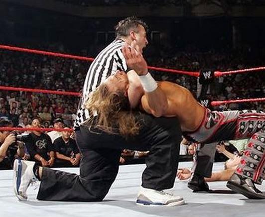 WWE Shane McMahon Wearing Air Jordan True Blue 3s