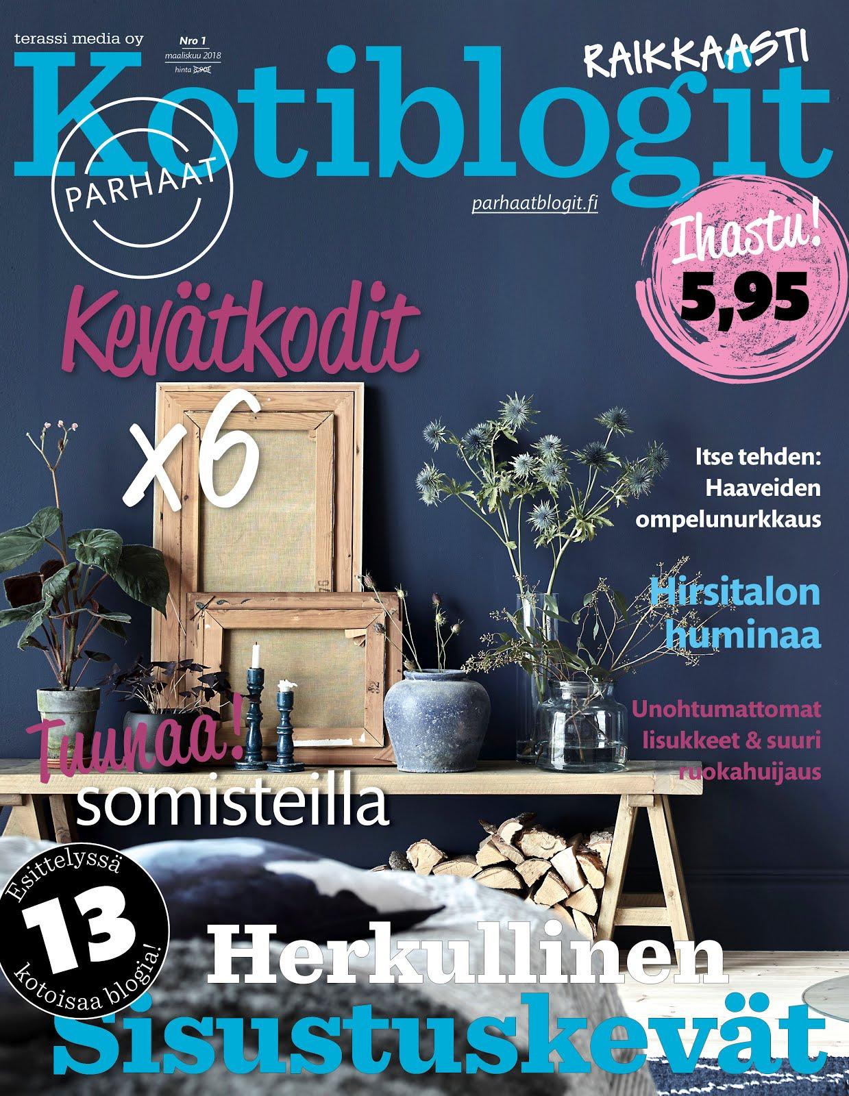Parhaat Kotiblogit -lehdessä 3/2018