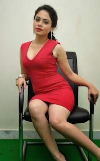 Malobika Banerjee in lovely Red Skirt