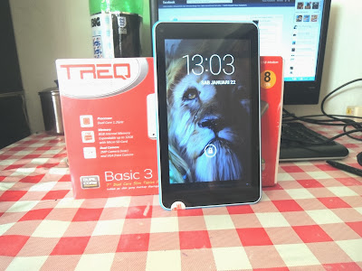 TREQ Basic 3 Dual Core Tablet Android Jelly Bean Open Box
