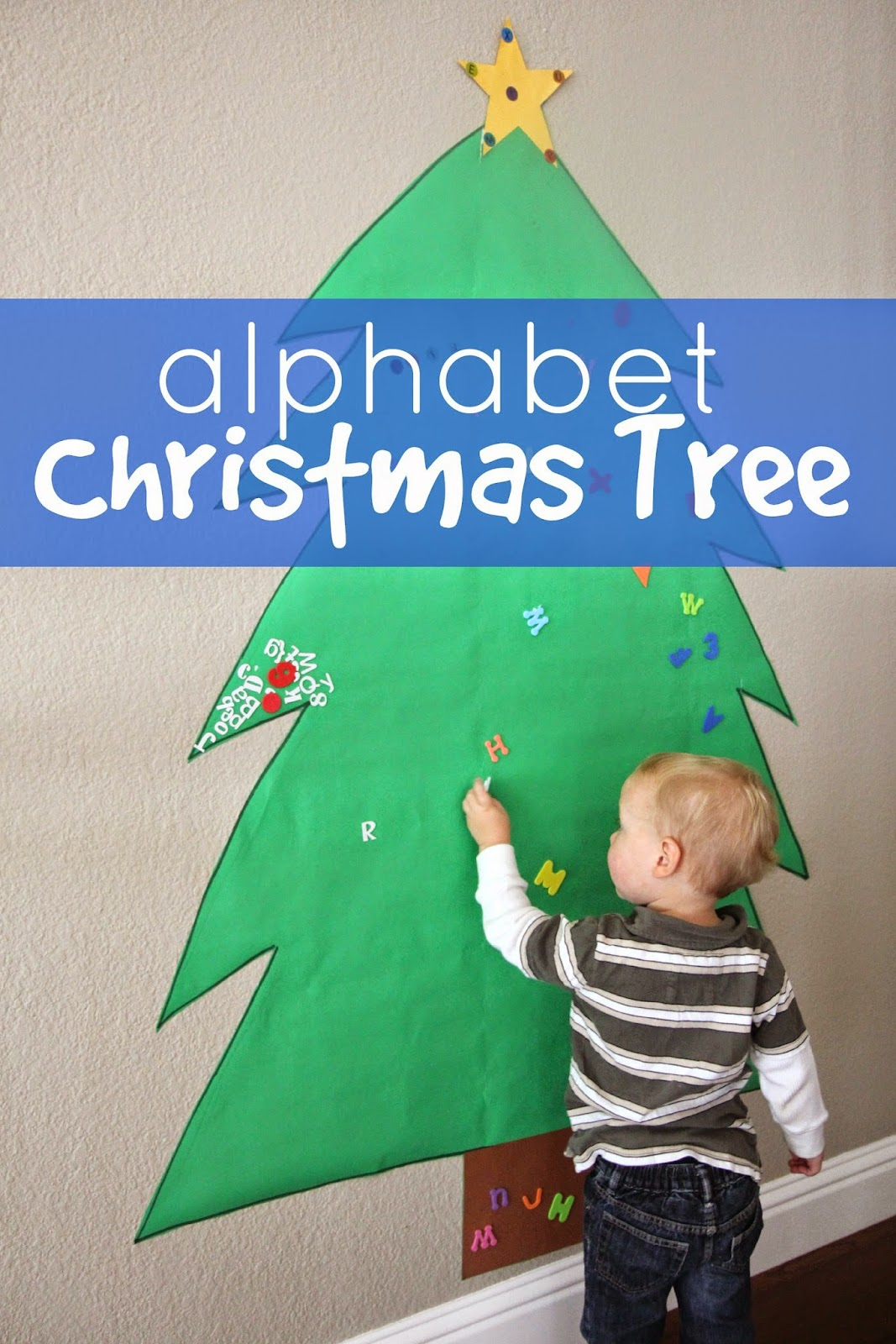Toddler approved giant alphabet tree for toddlers and - Alphabet noel ...