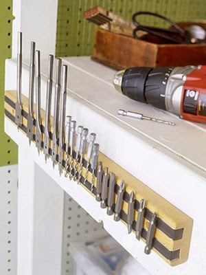 11 Ways to Organize with Magnets - for garage or work shop:: OrganizingMadeFun.com