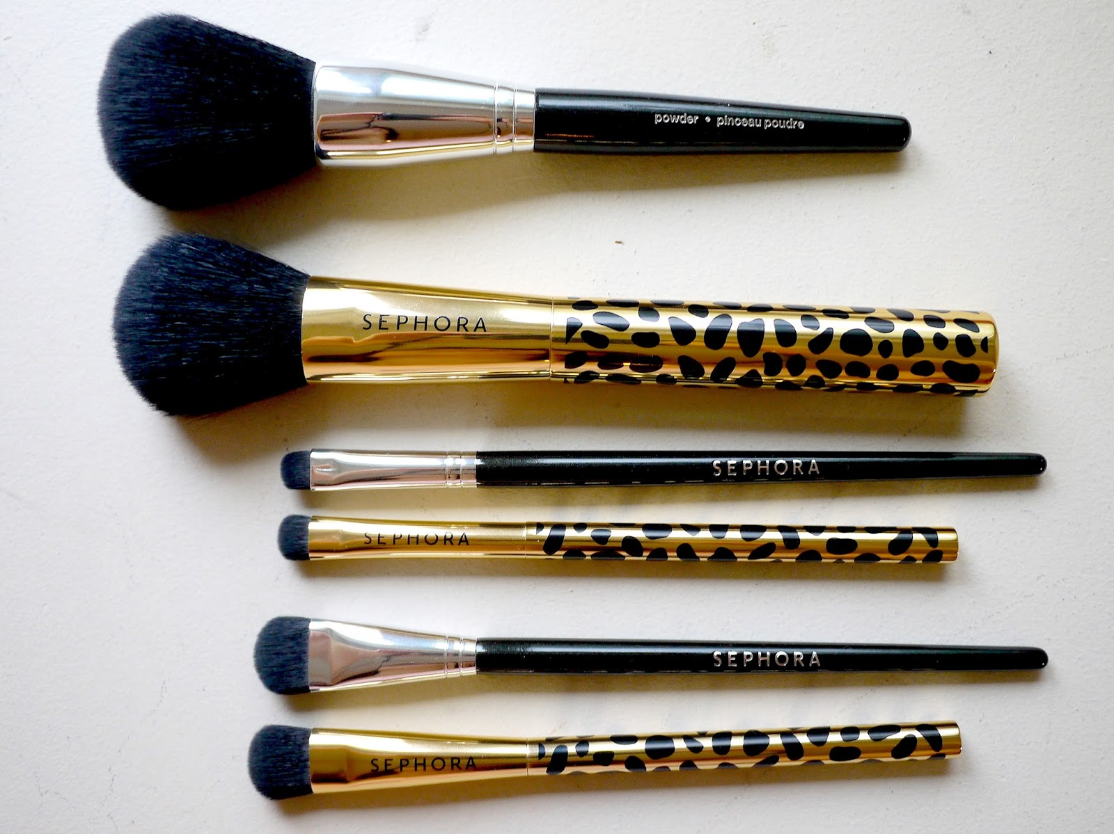 Sephora Face the Day: Full Face Brush Set and Gold Den Brush Set review comparison