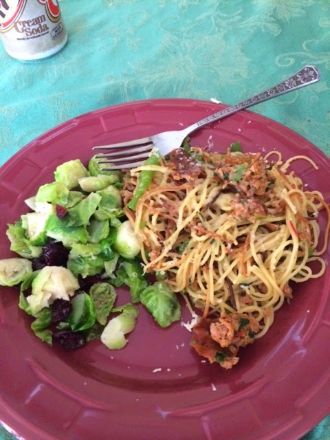 ... Slim: Toasted Pasta with Sausage and Lemon Cranberry Brussels Sprouts