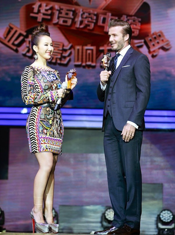 David Beckham in Ralph Lauren - The 18th Channel [V] Chinese Music Awards 大衛貝克漢亮相第18届全球华语榜中榜