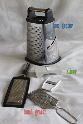 box grater, hand grater, or slicer