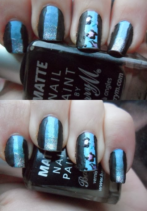 Leopard stripe nail art