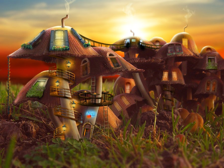 11-Mushroom-Community-Debra-Mason-Shorra-Surreal-Digital-Micro-Universes-www-designstack-co