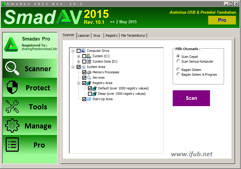 Smadav Pro 2015 Versi Terbaru Rev 10.1 Full Keygen Gratis screenshot