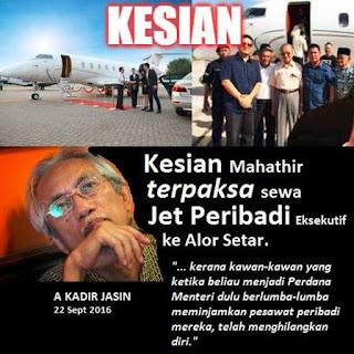 Mahathir Terpaksa Sewa Jet Eksekutif