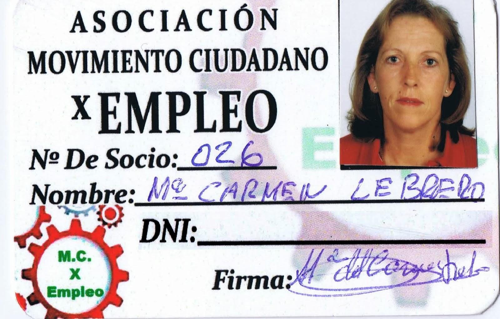MARIA DEL CARMEN LEBRERO