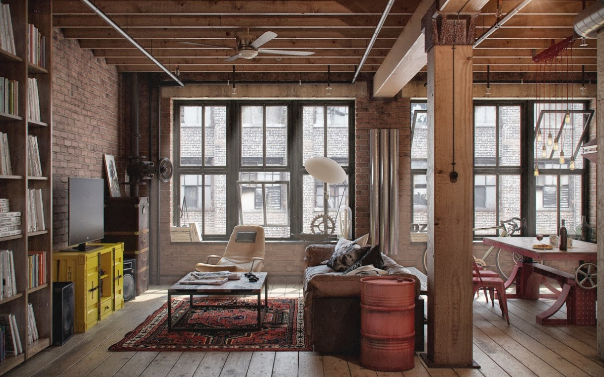 Industrial Loft Apartment Designs