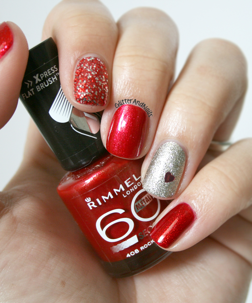 Red Silver Nails