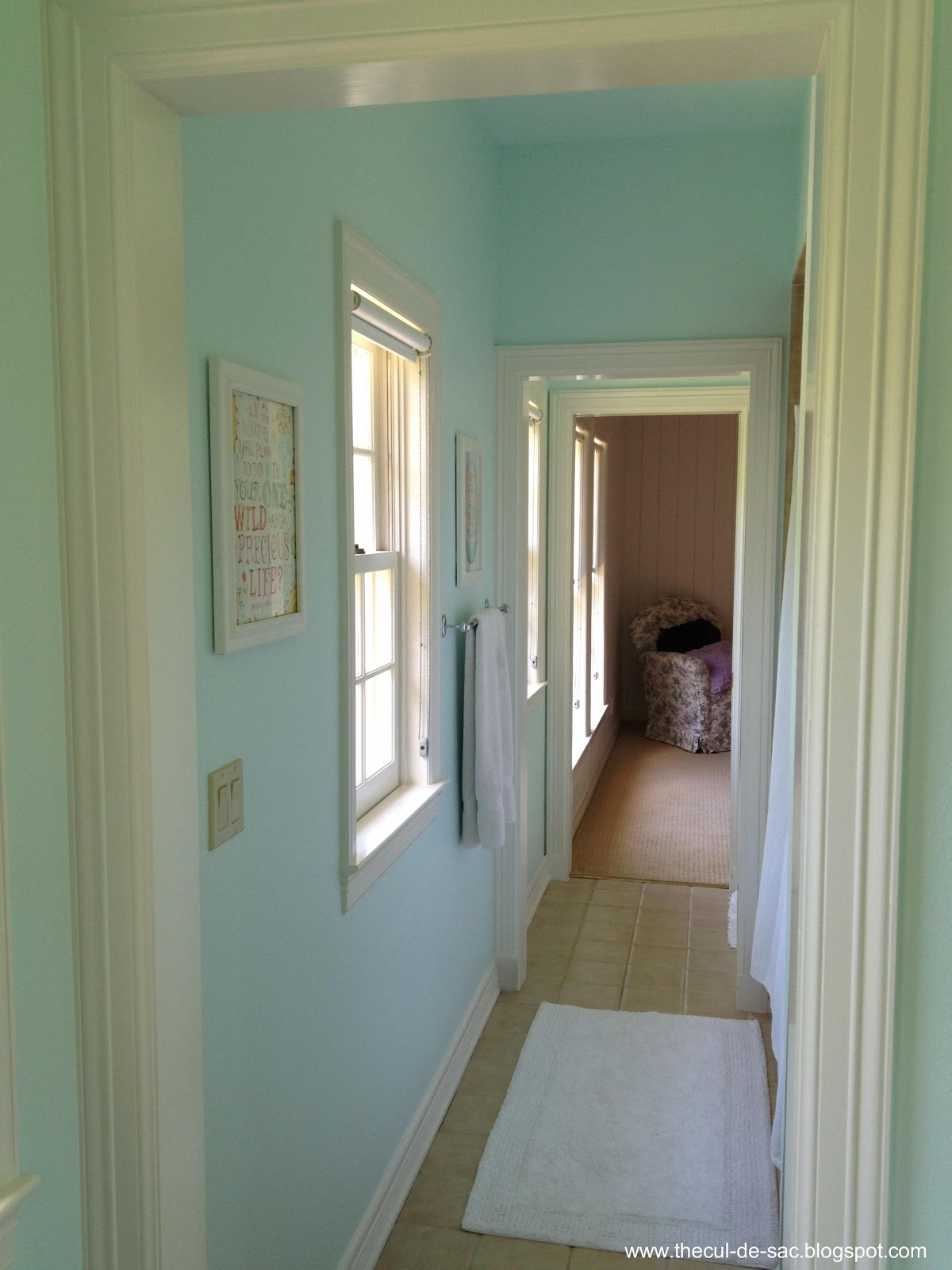 The cul de sac before and after kid 39 s bathroom for Bathroom cabinets jamaica