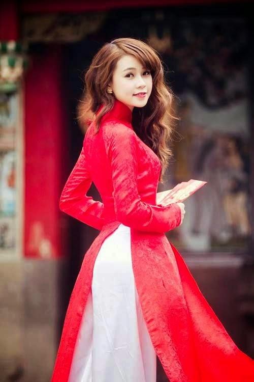 Ảnh gái đẹp diệu dàng trong tà áo dài 22