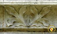 Toul - Cathédrale Saint-Etienne : Corniche çà feuillage du cloître