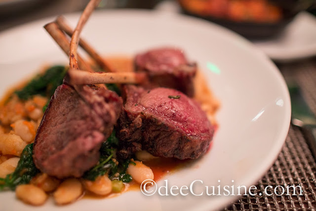 Grilled Rack of Lamb, Tuscan Bean Ragout & Rosemary