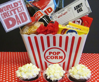 Father's Day Movie Party Bucket