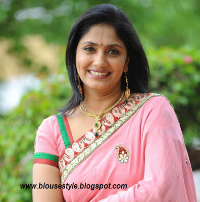 pink designer saree blouse