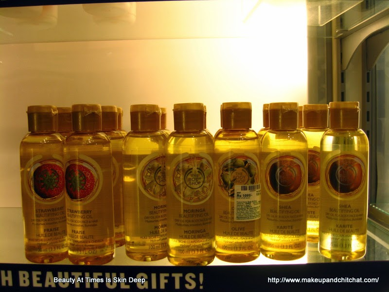 The Body Shop  beautifying oils photos