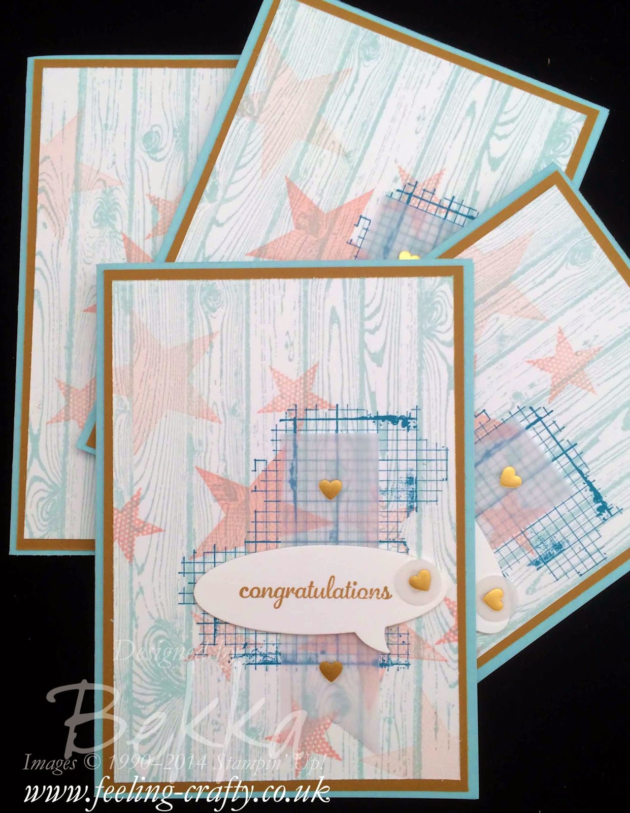 Congratulations Cards made with Stampin' Up! Supplies - check this blog for lots of great ideas