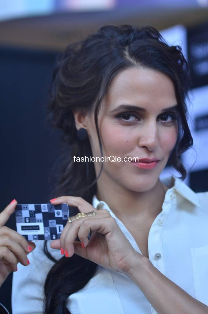 Neha Dhupia holding card -  Neha Dhupia gift Card Launch BRAND NEW