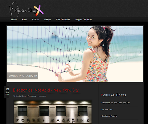 Photos BlogX Blogger Theme