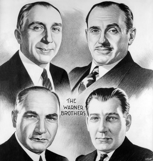 Harry, Albert, Sam und Jack Warner, Quelle: warnerbroshistory.blogspot.com