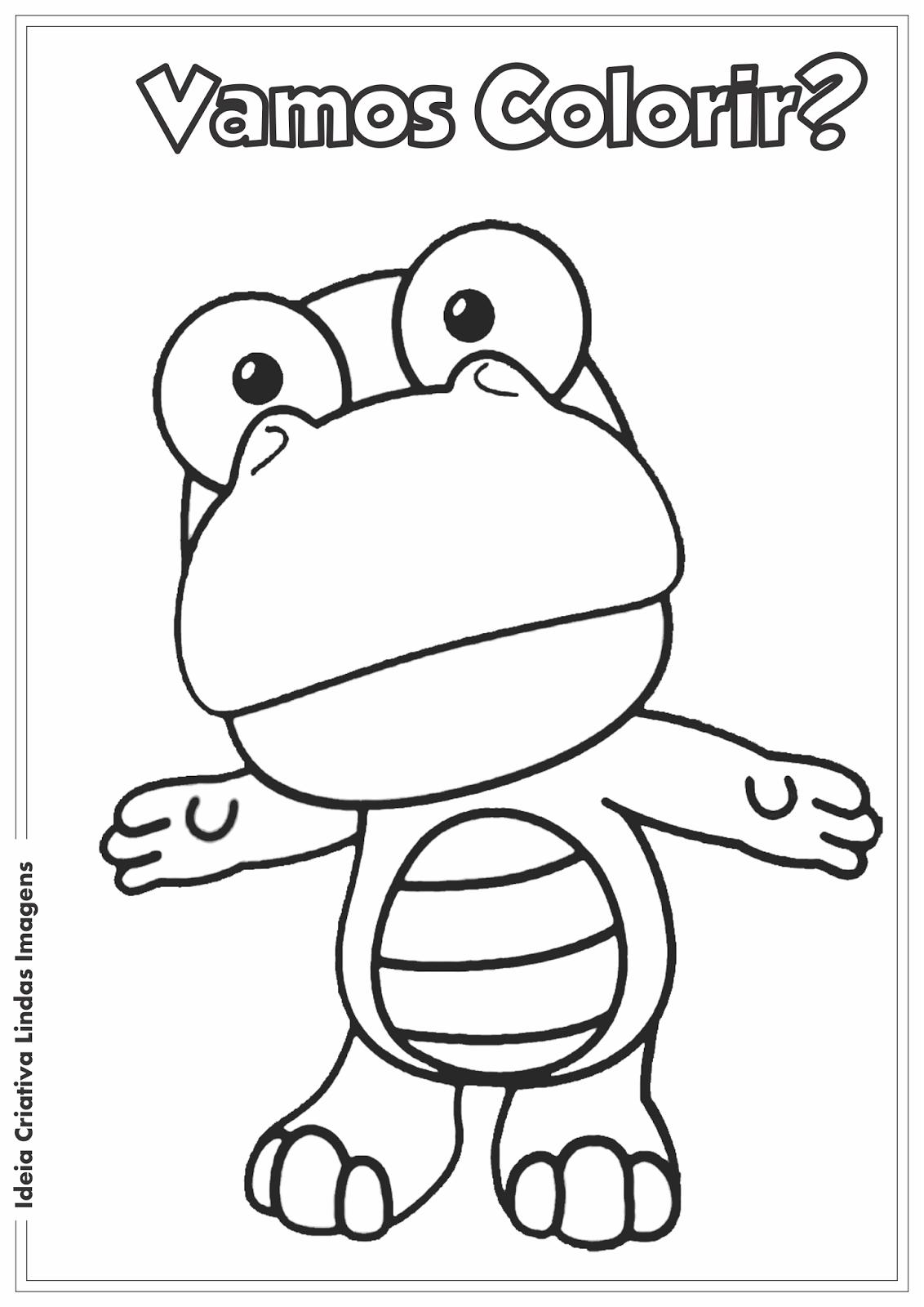 Turma do Pororo - Crong desenho para colorir