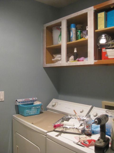 Handy Honey Laundry Room Cabinets Update