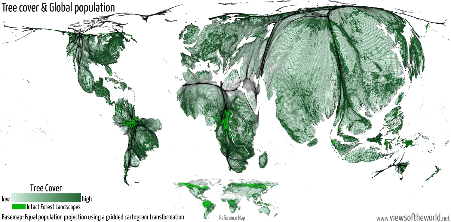Global tree cover