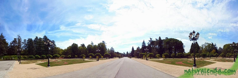 panoramica de los jardines del palacio del pardo