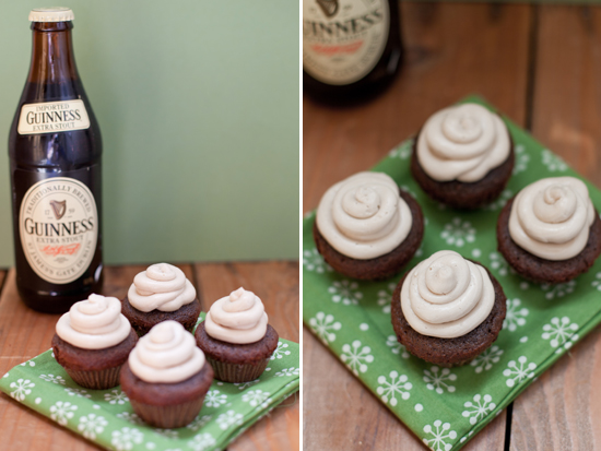 Juneberry Lane: St. Patrick's Day Delicious: MIni-Guinness Cupcakes!!