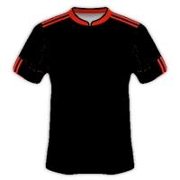 Desain Gratis Jersey Bola Warna Hitam Lis Merah zonapelatih.net