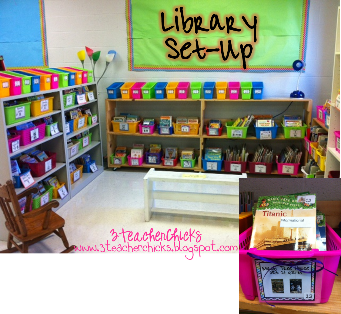 Classroom Library Decor ~ Teacher chicks back to school sale some free