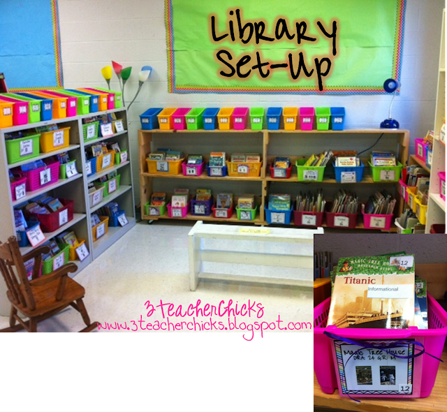 Classroom Library Decorating Ideas ~ Teacher chicks back to school sale some free