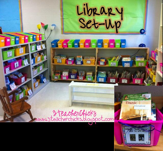 Classroom Library Design Ideas ~ Teacher chicks back to school sale some free