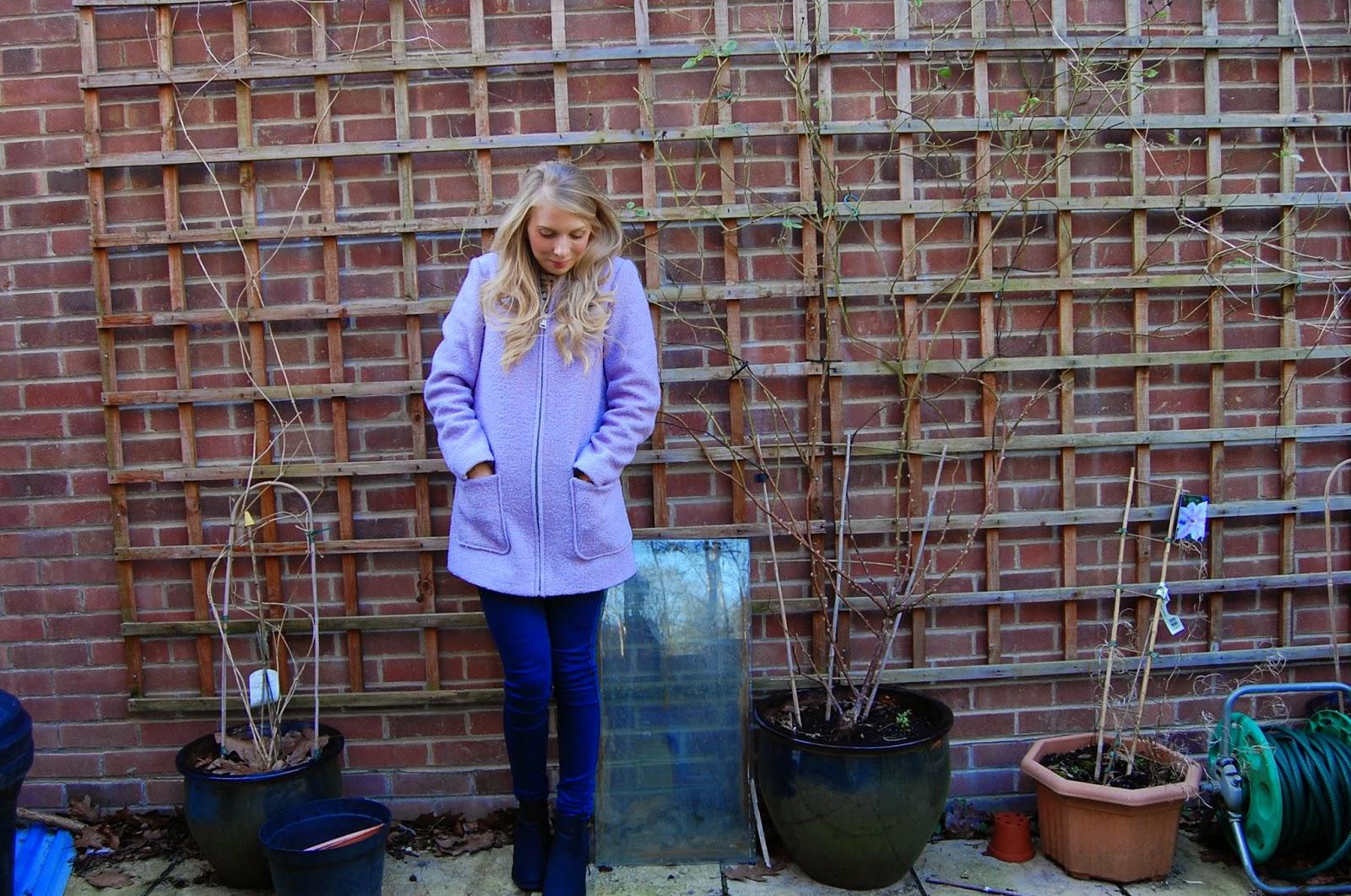 New Look Lilac pastel coat