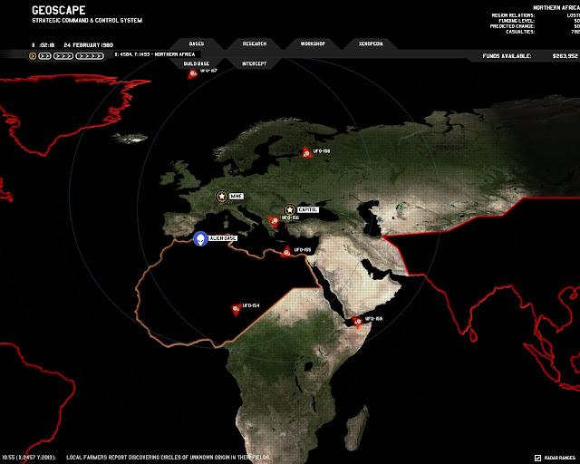 Xenonauts - Strategic Map Description